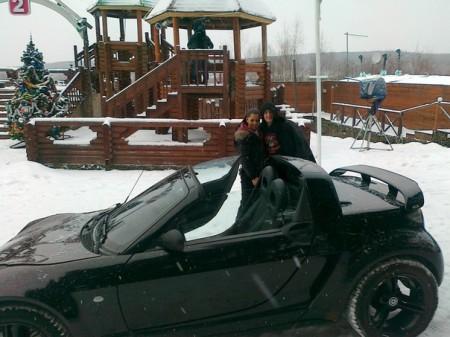Влад Кадони, у которого правда не просто Mercedes-Benz Smart, а родстер Mersedes Smart Roadster