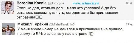 Ксения Бородина не пригласила Терехина на день рождения.