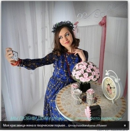 Маша Адоевцева в творческом порыве