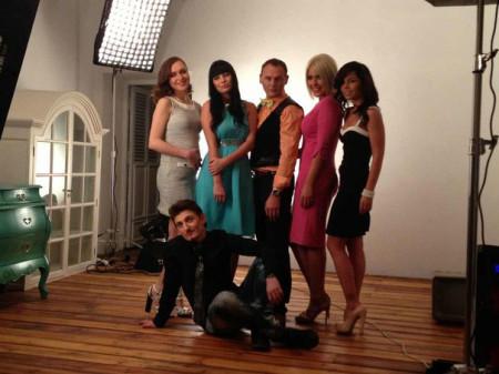 Оксана Ряска на съемках спецвыпуска журнала Дом 2