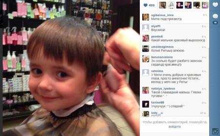 Митя Кузин в парикмахерской
