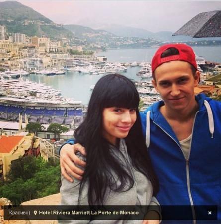 Нелли Ермолаева с Женихом в Монако