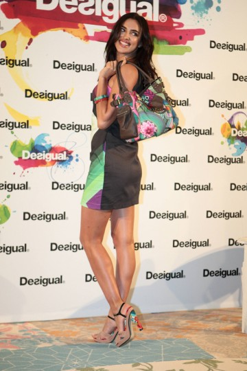 Russian model and Cristiano Ronaldo's girlfriend, Irina Shayk, attending the launch of a new Desigual colection in Barcelona