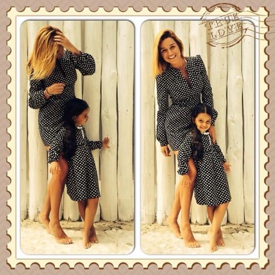 Ксения Бородина на фотосессии с дочкой.