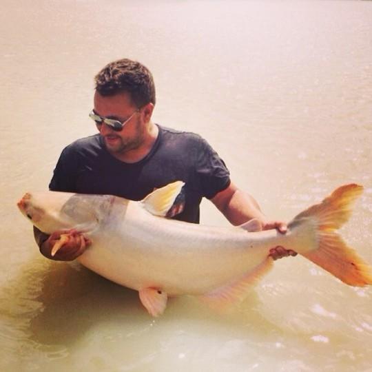 Сергей Жуков поймал экзотическую рыбу.
