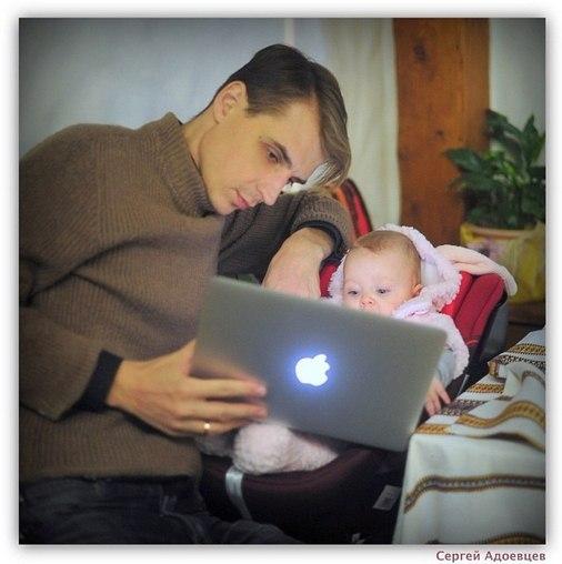 Адоевцевы с дочкой. Свежие фото 3.02.14