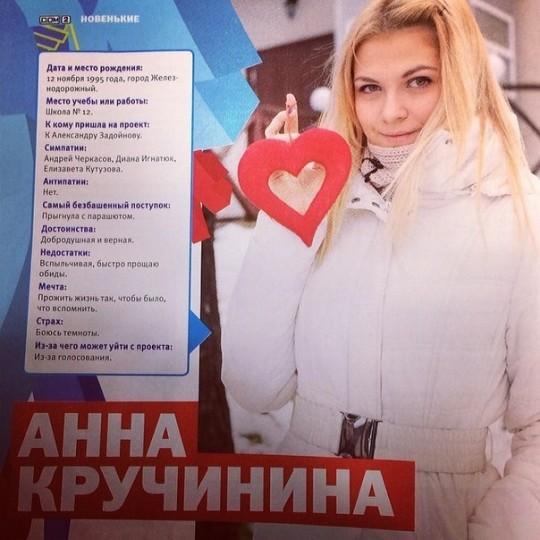 Анна Кручинина: Мартовский журнал дом 2. Дату рождения неправильно написали