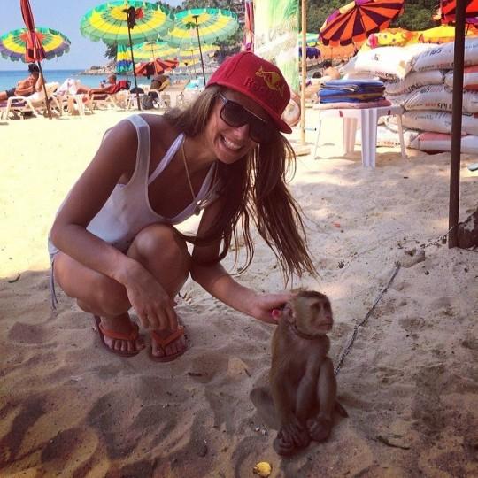 Яна и обезьяна