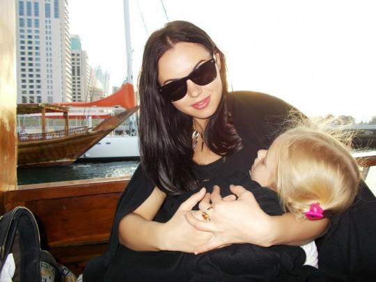 Таня Киося ( Чуева) с дочкой. Свежие фото 12.02.14