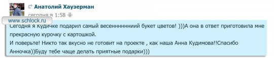 Анатолий Хаузерман. Обмен любезностями с Анечкой