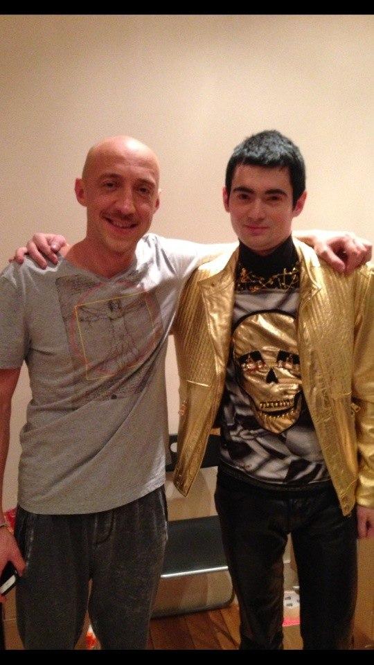 Венц и Серж Горелый на съемках Comedy Club.