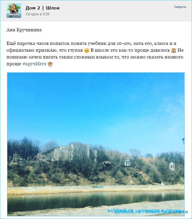 Аня Кручинина не тянет программу 10 класса