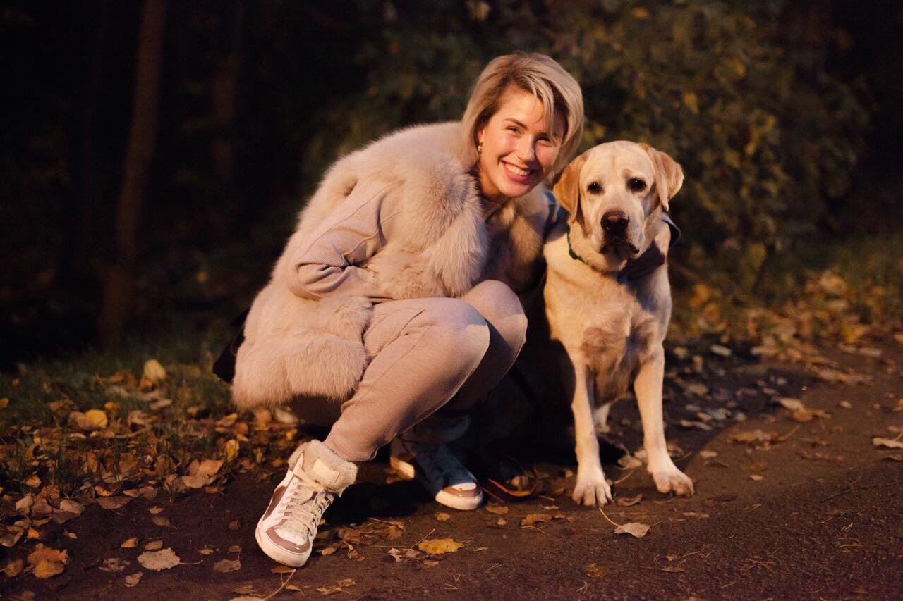 Оксана Ряска и её любимый Бэйри