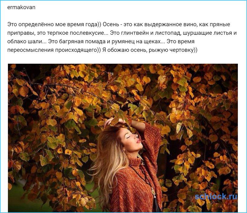 Я обожаю осень, рыжую чертовку))