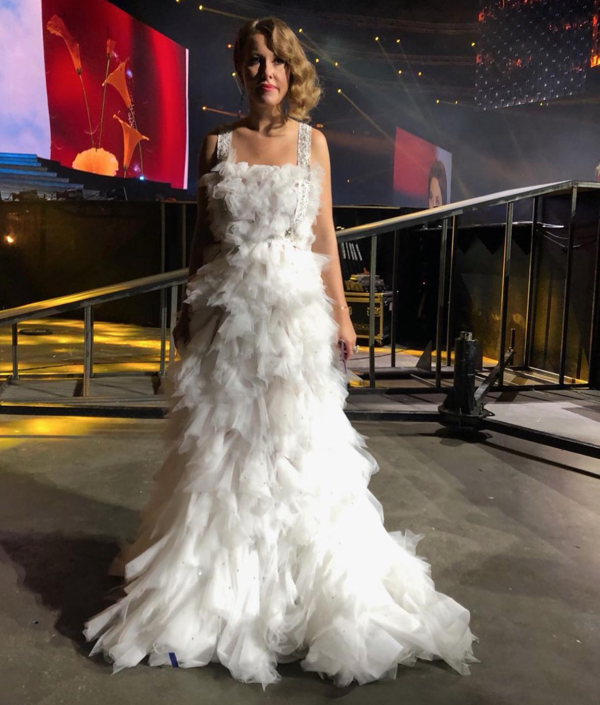 5 нарядов Ксении Собчак на главной музыкальной церемонии страны
