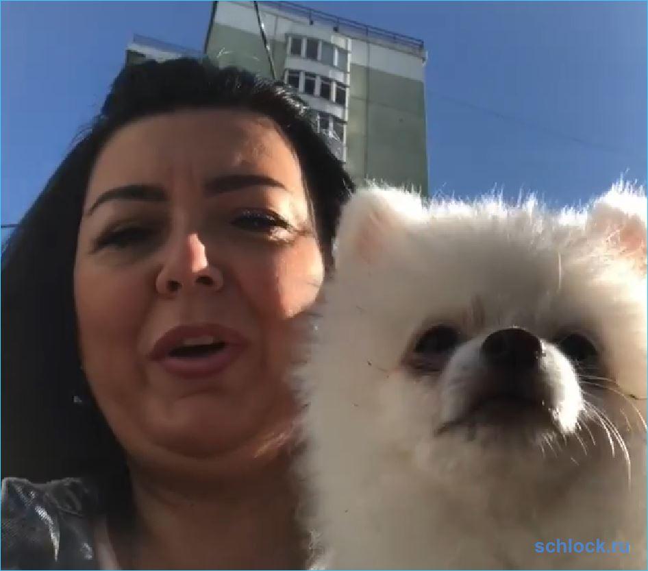 Мать Донцовой не справляется с собакой!