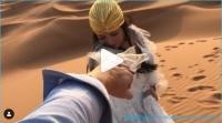 Бывшая участница дома 2 Нелли Ермолаева встретила с мужем закат в пустыне